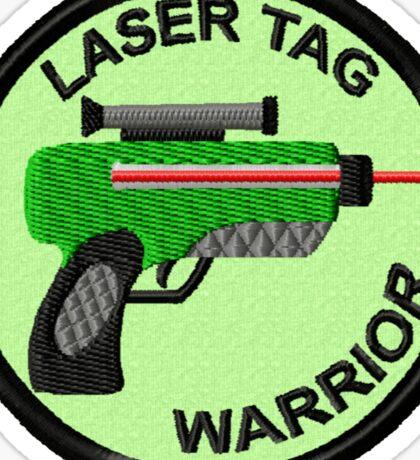 Laser Tag Warrior Geek Merit Badge Sticker