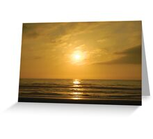 Chilean Sunset Greeting Card