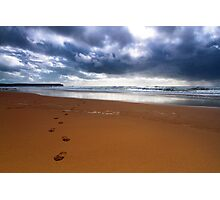 Walk Away From The Storm.. Photographic Print