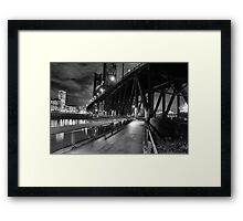 Portland Oregon at night Framed Print