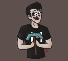 Markiplier Minecraft Pickaxe by ShadowByte