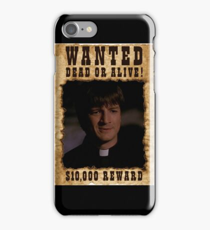 Buffy Caleb Nathan Fillion Wanted 2 iPhone Case/Skin