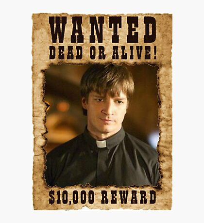 Buffy Caleb Nathan Fillion Wanted 3 Photographic Print