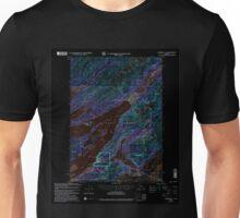 USGS TOPO Map Alaska AK Cordova C-5 355189 2000 63360 Inverted Unisex T-Shirt