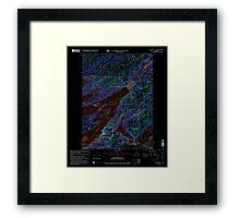USGS TOPO Map Alaska AK Cordova C-5 355189 2000 63360 Inverted Framed Print