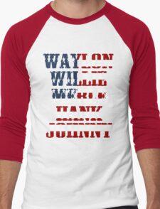 Waylon Jennings Willie Nelson Merle Haggard Hank Williams Johnny Cash  Men's Baseball ¾ T-Shirt