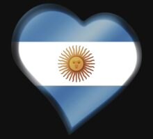 Argentine Flag - Argentina - Heart by graphix