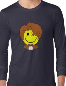 Happy Dr. Who Face Long Sleeve T-Shirt