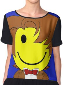 Happy Dr. Who Face Chiffon Top