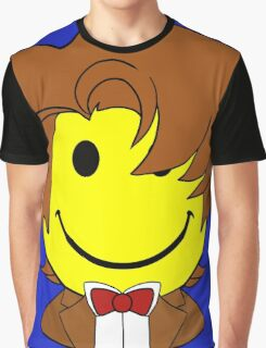 Happy Dr. Who Face Graphic T-Shirt