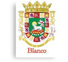 Blanco Shield of Puerto Rico Canvas Print