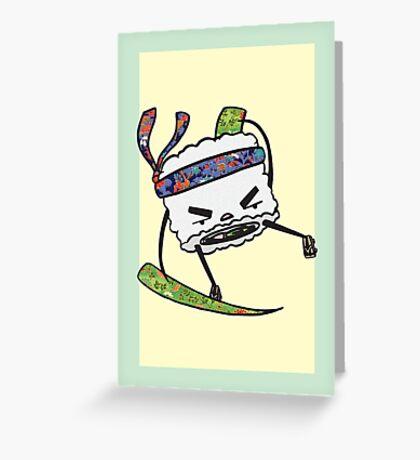 String Bean Ninja Greeting Card
