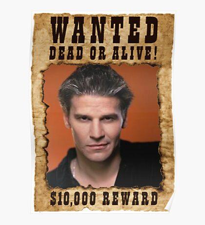 Buffy Angel David Boreanaz Wanted Poster