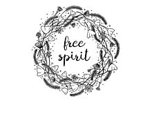 Free Spirit Flower Crown - Typography  Photographic Print