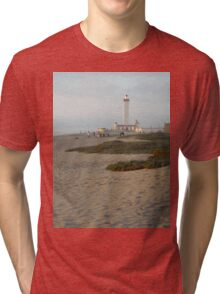 Santiago Lighthouse at Sunset Tri-blend T-Shirt