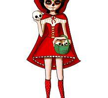 El Dia de Los Muertos Red Riding Hood by colonelle