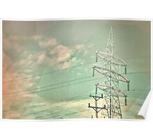 Abstract Power lines Poster