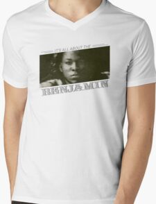 All About The Benjamin Mens V-Neck T-Shirt
