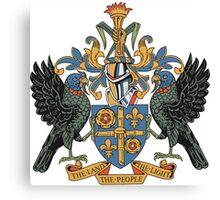 Saint Lucia Coat of Arms Canvas Print