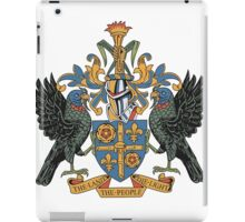 Saint Lucia Coat of Arms iPad Case/Skin