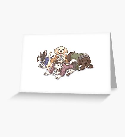 Hamilton Musical x Broadway Dogs Greeting Card