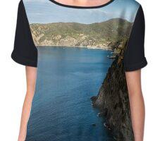 Monterosso and the Cinque Terre Coast Chiffon Top