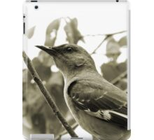 MOCKINGBIRD ON A BRANCH iPad Case/Skin