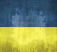 Grunge Flag Of Ukraine by Olga Altunina