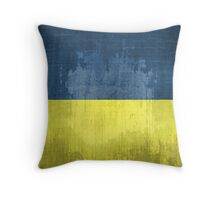Grunge Flag Of Ukraine Throw Pillow
