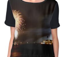 southend pier fireworks Women's Chiffon Top