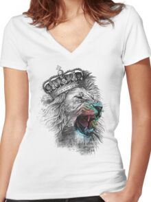King Lion Women's Fitted V-Neck T-Shirt