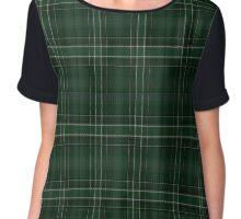 02545 Washington County, Oregon Fashion Tartan  Chiffon Top