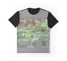 Water Lilies in Chrome Graphic T-Shirt