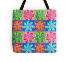 Multi colored flowers - digital art Tote Bag