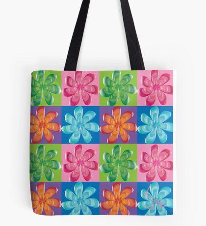 Multi colored flowers - digital art Tote Bag