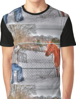 Lina and the Horse HDR Graphic T-Shirt