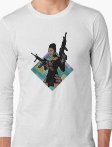 Nicki Minaj Lookin Ass Machine Guns Long Sleeve T-Shirt
