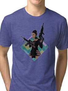 Nicki Minaj Lookin Ass Machine Guns Tri-blend T-Shirt