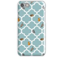Cats On A Lattice - Blue iPhone Case/Skin