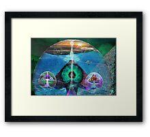 Pyramid Portals Framed Print
