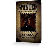 Buffy Caleb Nathan Fillion Wanted 4 Greeting Card