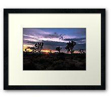 Amazing Sunset Sunrise over Joshua Tree Park Framed Print