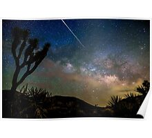 Camelopardalid Meteor Strike Over Joshua Tree Milky Way Poster
