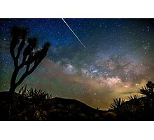 Camelopardalid Meteor Strike Over Joshua Tree Milky Way Photographic Print