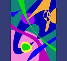 Philosophical Man Digital Abstract Pattern Unisex T-Shirt
