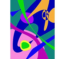 Philosophical Man Digital Abstract Pattern Photographic Print
