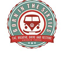 Retro Badge Sixties Red Green by splashgti
