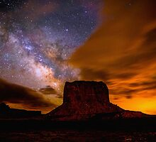 Amazing Milky Way Over Monument Valley Storm  by Gavin Heffernan