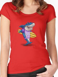 Live to surf Women's Fitted Scoop T-Shirt