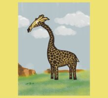 Giraffee Njoying African Summers  Kids Clothes